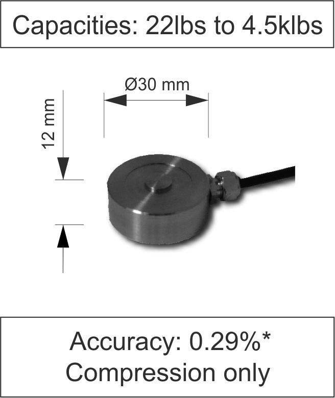 Quick Product Button Load Cell 410 Series lbs