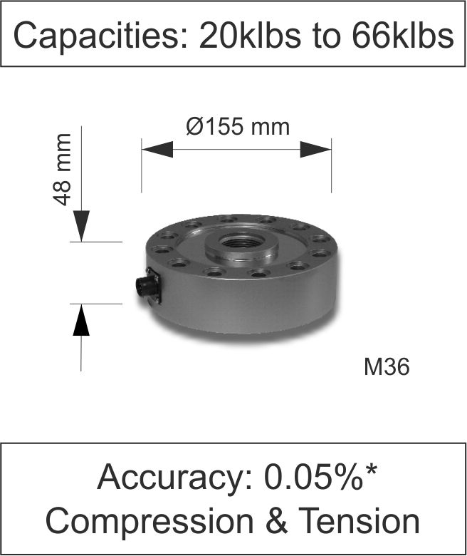 Quick Product Low Profile Load Cell 100kN to 300kN 100 Series lbs