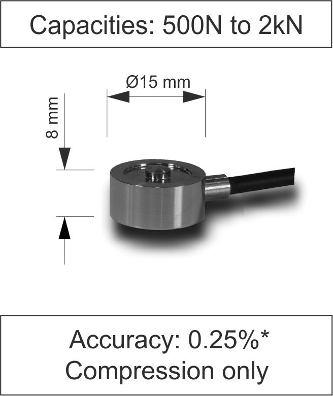 Quick Product Miniature Button Load Cell 400 Series Newton