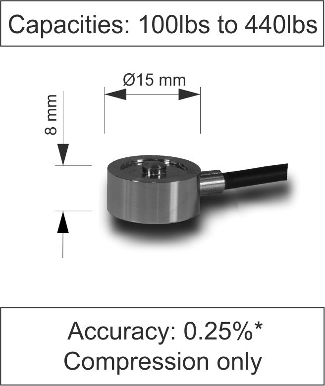 Quick Product Miniature Button Load Cell 400 Series lbs