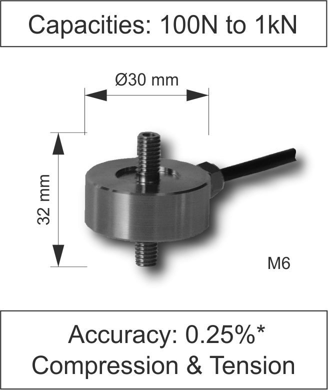 Quick Product Miniature In Line Load Cell 210 Series Newton