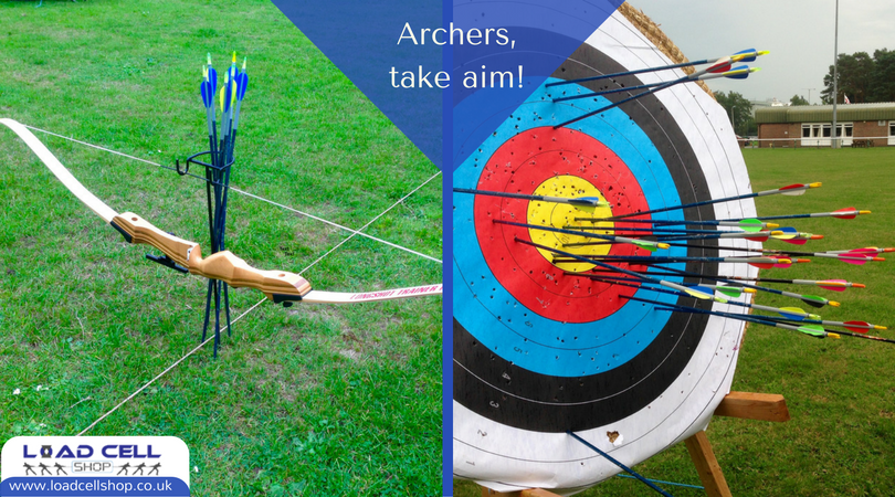 Recurve, compound and draw weights: load cells in archery bow testing